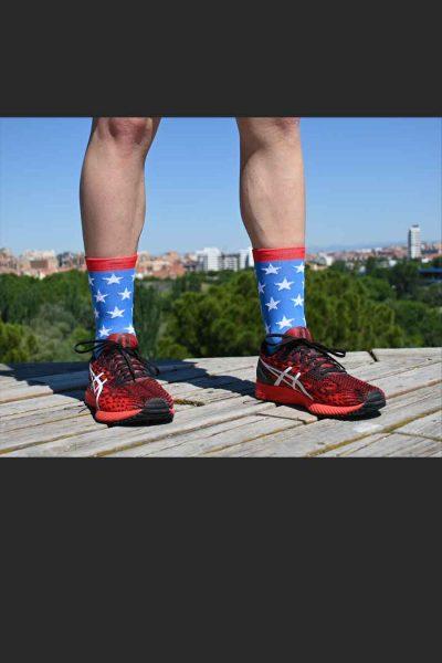 Calcetines Running Sock&Roll stars blue delante