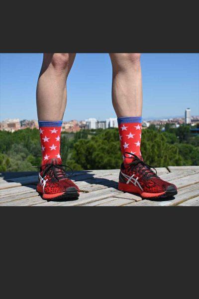 Calcetines Running SockandRoll stars red delante
