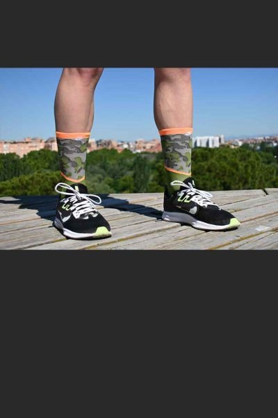 Calcetines Running Sock&Roll camu green delante